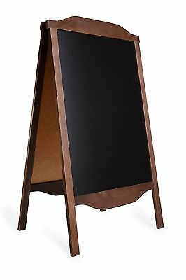 WOODEN A-BOARD, BLACK BOARD STAND CHALK, PAVEMENT SIGN, SANDWICH advertising RO2