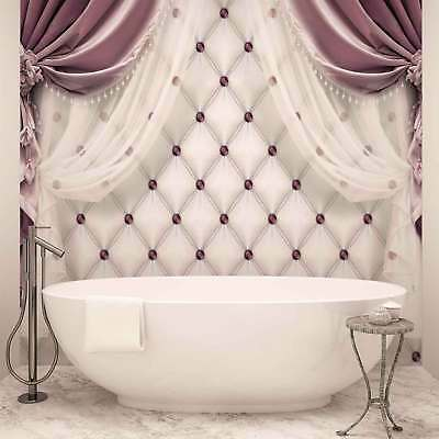 WALL MURAL PHOTO WALLPAPER XXL Pink Curtains (3560WS)