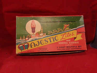 Early Majestic Antique Christmas Light Outfit In Box