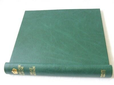 Stanley Gibbons Green Windsor Springback Album, Great Britain, Vg/exc Condition