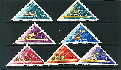HUNGARY 1973 Sc#2261-2267 WATER SPORTS SET OF 7 STAMPS MNH