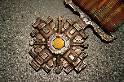 WWII IMPERIAL JAPAN MANCHURIAN SILVER ORDER OF PILLARS Japanese Manchukuo WW2
