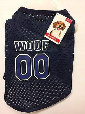 DOG T-Shirt - WOOF SPORT JERSEY - Size Small - NEW only £3.75