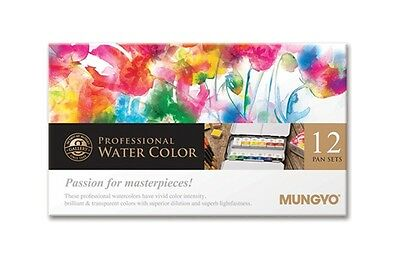 Watercolour Paint Mungyo Professional Pans Set 12 Color MWPH-12C