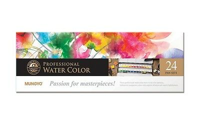 Watercolour Paint Mungyo Professional Pans Set 24 Color MWPH-24C
