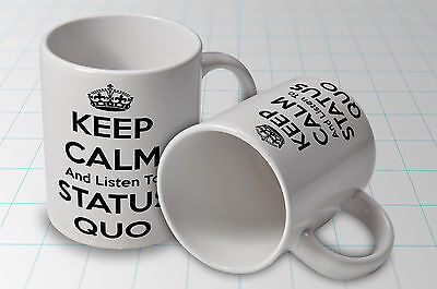 Status Quo rock group Keep Calm Listen to  Mug New  Great Gift