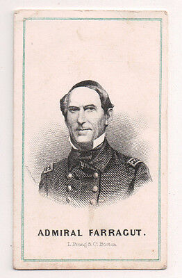 Vintage CDV David Glasgow Farragut Union Admiral American Civil War