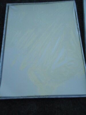 Boxed Plain Cream Colored Paper Stationery from Carlton Cards 40 Sheets