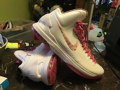 b4fbdcf11348 NIKE AIR KD V 5 Aunt Pearl Premium Shoes Pink DS SZ 17 (598601-100 ...
