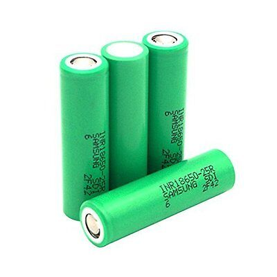 For Samsung 4 PCS INR18650-25R 2500mAh 3.6v Rechargeable Batteries (4 Pack)