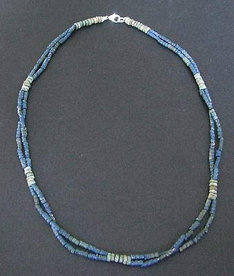NILE  Ancient Egyptian Double Strand Amulet Mummy Bead Necklace ca 1200 BC