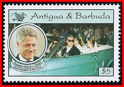 Antigua 1973 Our Beloved Pres. Bill Clinton Sc#1692 Mnh (K-J18)