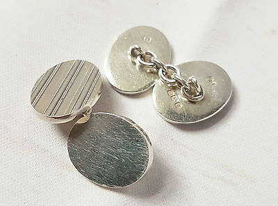 Solid Silver Classic Cuff Links