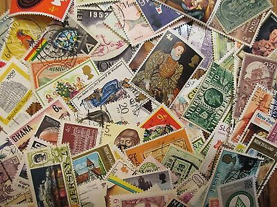 Henry's Stamps - 100 Different Worldwide - Unchecked - Used - Off Paper
