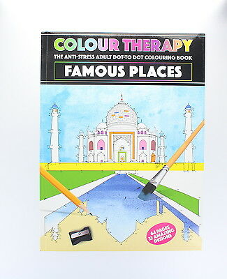 Adults Anti-stress Dot-to-dot Colouring Book - Famous Places