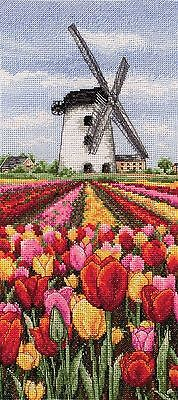 Anchor - Counted Cross Stitch Kit - Dutch Tulips Landscape - PCE0806