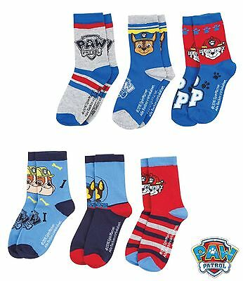 paw patrol pack for 3 socks rubble set or chase set age 2-8