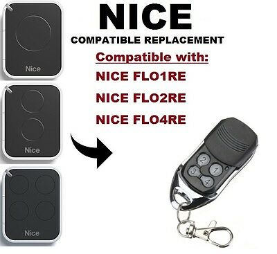 NICE FLO1RE, FLO2RE, FLO4RE Compatible Replacement Rolling code Remote Control
