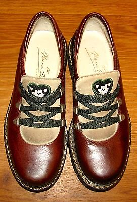 HANS BEHR Heavy Leather Oxford Shoe TWO TONE BROWN SUEDE OCTOBERFEST  37 7