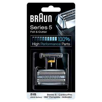 New Mens Braun 51S Replacement Foil & Cutter Head Combi Pack Series 5 Shavers
