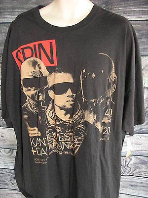 SPIN KANYE WEST & DAFT PUNK How They Made Song of the Year 4X T-Shirt NWT Black