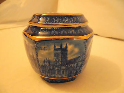 WILLOW PATTERN 80th ANNIVERSARY TEA CADDY - PRODUCED BY WADE FOR RINGTONS 1920's