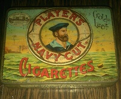 Player's Navy Cut Gold Leaf cigarettes tin, small