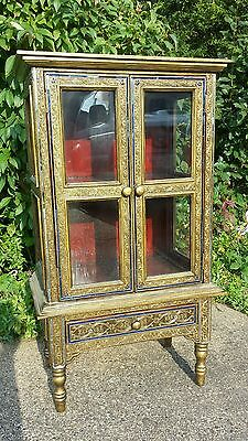 RARE and BEAUTIFUL.... Embellished detail DISPLAY CABINET