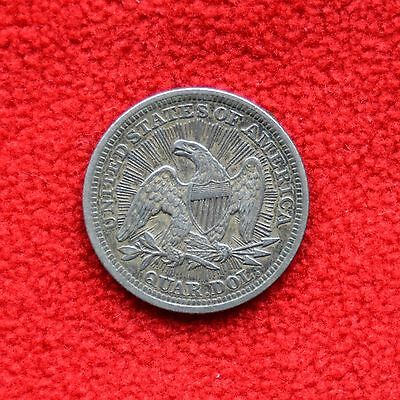 1853 25C Arrows and Rays Liberty Seated Quarter - Key Date