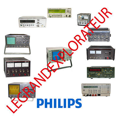 Ultimate Philips Oscilloscope Service Maintenance & Owner manual s on DVD