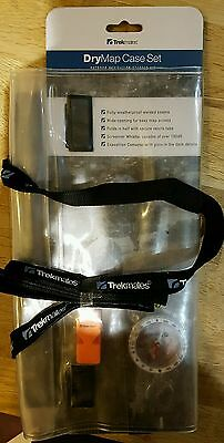 Trekmate Waterproof map case set compass and emergency whistle included