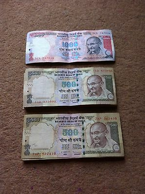 Indian Rupee Bank Notes worth £539