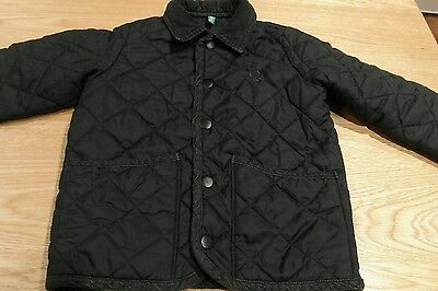 Benetton used girl quilted jacket