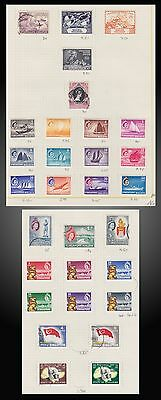 1949 -1961  Singapore Lot On Old Page Album Mint And Used