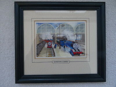 Thomas the Tank Engine Framed Picture Gordon & James. Children's Trains TV Show