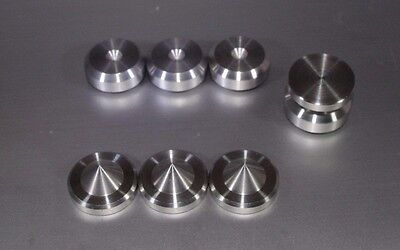 - BRITISH Made - 4 x  Speaker Spikes + 4 x Stainless Spikes Shoes - HIFI Stands