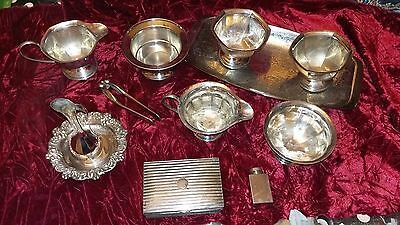 Job Lot Of Vintage Silver Plate