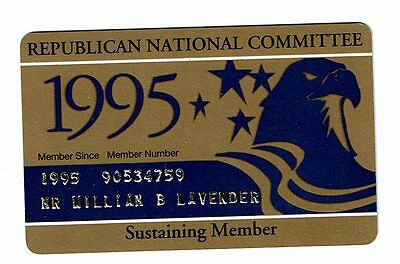 1995 Republican National Committee, Sustaining Member card