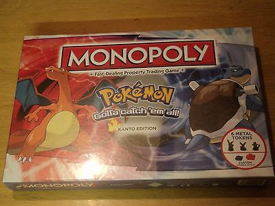 Pokemon Monopoly Kanto Edition - Brand New And Factory Sealed