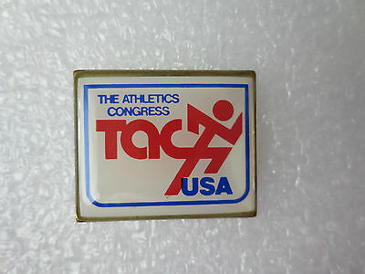 The Athletics Congress Usa Pin Badge, Olympic Games Sporting Memorabilia