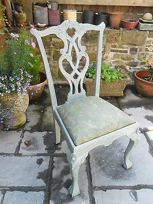 Shabby Chic Painted Dining Chair with Padded Seat