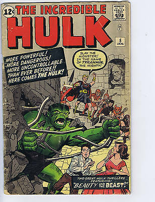 Incredible Hulk #5 Marvel 1963