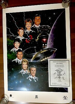 LOST IN SPACE (TV SERIES) LIMITED EDITION NEW LINE LITHOGRAPH POSTER 1997 w/Cert