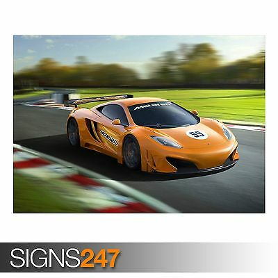 MCLAREN MP4 12C GT3 AA809 CAR POSTER Photo Picture Poster Print Art A0 to A4