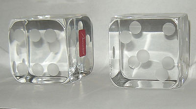 Pair Baccarat Dice Never Displayed Original Boxes Stamped Paper Weights (?) Beau
