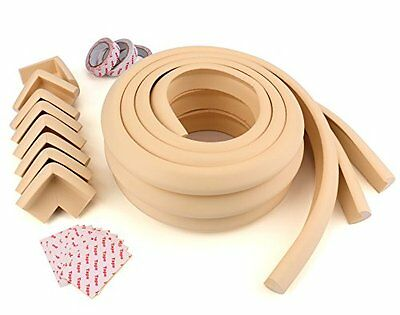 Bekith [19.6ft Edge + 8 Corners] Edge Guard & Corner Bumpers for Baby Proofing