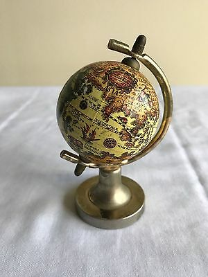 Mini World Globe with Metal Stand