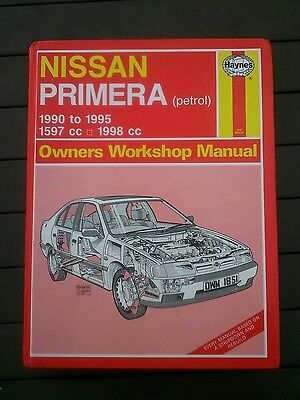 Nissan primera P10 Haynes workshop manual petrol 1990-1995