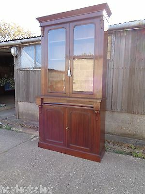Victorian Mahogany Bookcase Chiffonier Delivery Available