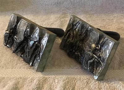 """Antique Tin / Lead Soldier Molds with Wood Handles For 2"""" - 2 1/4"""" Soldiers"""